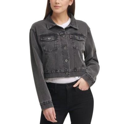 ダナキャランニューヨーク ジャケット&ブルゾン アウター レディース Knit Trucker Jacket Slate Grey