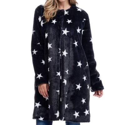 フィーバー Fever レディース コート ファーコート アウター Stars Faux Fur Coat Black