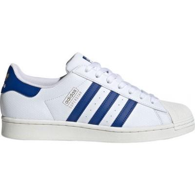 アディダス Adidas メンズ スニーカー シューズ・靴 Superstar Shoes Footwear White/Collegiate Royal/Gold Met.