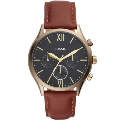 フォッシル 腕時計 アクセサリー メンズ Men's Fenmore Multifunction Brown Leather Watch 44mm Brown