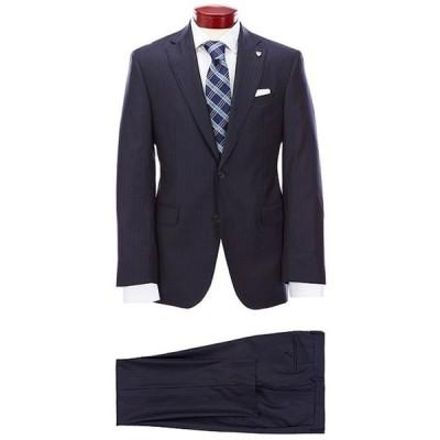 ダニエル クレミュ メンズ ジャケット・ブルゾン アウター Modern Fit Navy Stripe Wool Suit