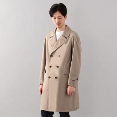 <Spring Coat>シルクコットンダブルブレストコート