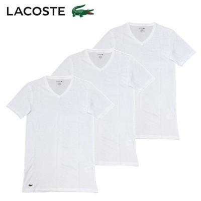 【2020SS】ラコステ  3枚組 半袖VネックTシャツ【ホワイト】 RAME109  B/LACOSTE/m-tops