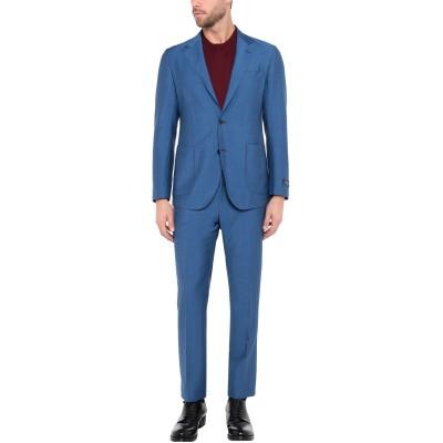 TOMBOLINI スーツ ブルー 56 バージンウール 48% / モヘヤ 37% / シルク 15% スーツ