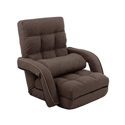 KYODA 座椅子 ひじ掛け付き クッション付き リクライニング 42段階調節 3way ハイバック ふあふあ 脚置き フロア?