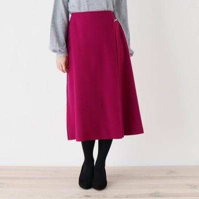 スープ SOUP 【大きいサイズあり・13号・15号】innowave ビットミモレラップスカート (ピンク)