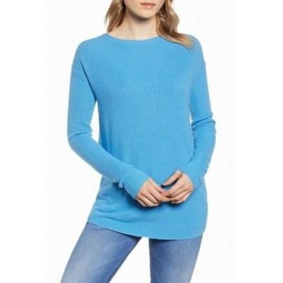 ファッション トップス Halogen NEW Blue Cendre Womens Size XL Twist V-Back Tunic Sweater