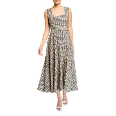 サローニ レディース ワンピース トップス Lottie Printed Midi Dress w/ Belt