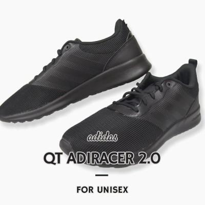 アディダス adidas レディース スニーカー 靴 女性 スポーツ QT ADIRACER 2.0 アディレーサー FV9528 FV9529 黒