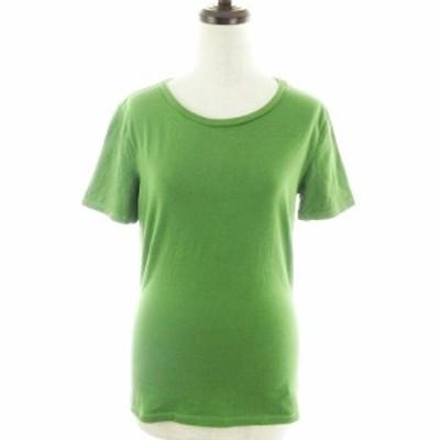 【中古】マックスマーラ ウィークエンドライン Tシャツ カットソー 半袖 薄手 コットン M 緑 トップス レディース