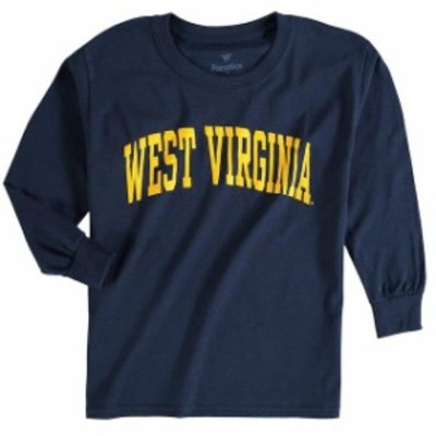 Fanatics Branded ファナティクス ブランド スポーツ用品  West Virginia Mountaineers Youth Navy Secondary Logo Basic Arch Long Slee