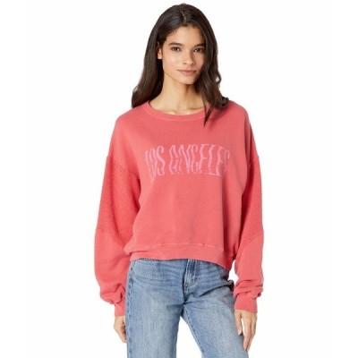 カレント エリオット パーカー・スウェットシャツ アウター レディース The Pieced Sweatshirt Red Hot