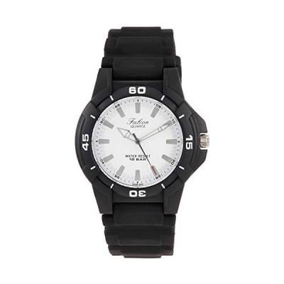 [シチズン Q&Q] 腕時計 アナログ 防水 ウレタンベルト Q596-850 メンズ ホワイト (ホワイト)