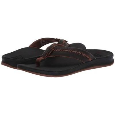 リーフ Leather Ortho-Coast メンズ サンダル Black/Brown