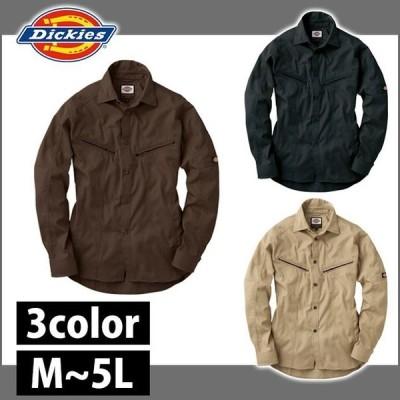 作業服 作業着 Dickies ディッキーズ 通年作業服 長袖シャツ D-1088 刺しゅう ネーム刺繍