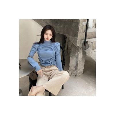 【送料無料】ボトムシャツ 女 年 秋冬 レトロ 折り畳む 着やせ 着やせ | 346770_A64180-6686361