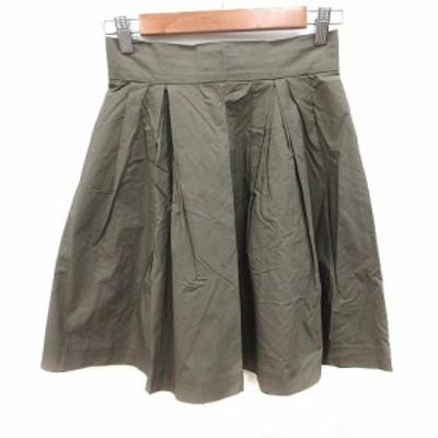 【中古】トランテアン ソン ドゥ モード 31 Sons de mode フレアスカート ミニ 36 緑 カーキ /KB レディース