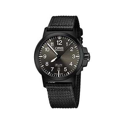 Oris BC3 Advanced Day Date Black Dial on Fabric Strap 42mm Men's Watch 7357