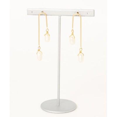 ピアス 【livrer】duble pearl gold pierce