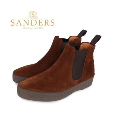 【スニークオンラインショップ】 SANDERS サンダース チェルシー サイドゴア ブーツ 靴 メンズ ビジネス ADAM CHELSEA BOOT Fワイズ ブラウン 1701PSS メンズ その他 GB8.0-27.0 SNEAK ONLINE SHOP