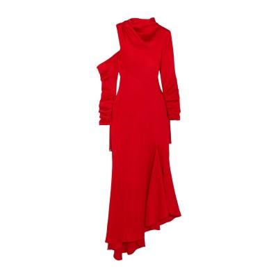 MONSE ロングワンピース&ドレス レッド 2 アセテート 73% / レーヨン 27% ロングワンピース&ドレス