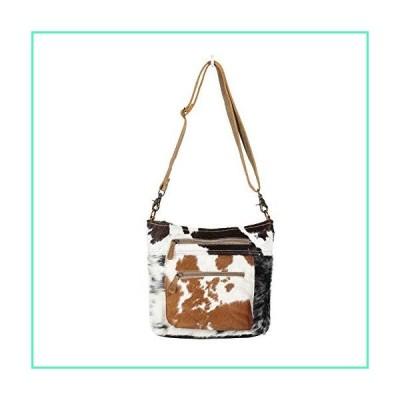 Myra Bag Double Zipper Two-Tone Cowhide Shoulder Bag S-1290並行輸入品