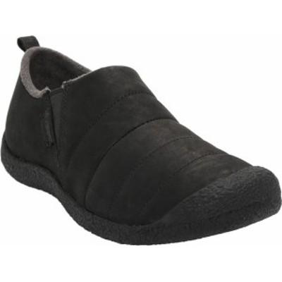 キーン メンズ スニーカー シューズ Men's Keen Howser II Leather Quilted Slip On Black