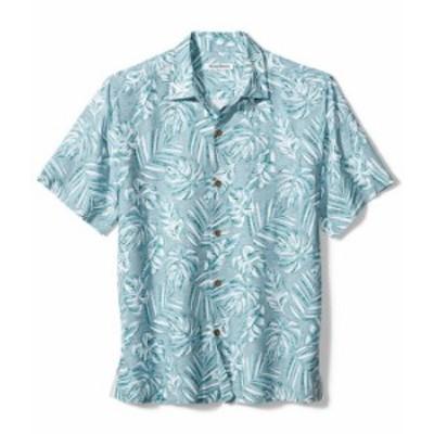 トッミーバハマ メンズ シャツ トップス La Playa Fronds Short-Sleeve Woven Shirt Island Sky