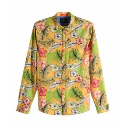 スコッチ&ソーダ シャツ ◆ SCOTCH&SODA Colourful Shirt Regular fit マスタード 292-71458 メンズ トップス 長袖