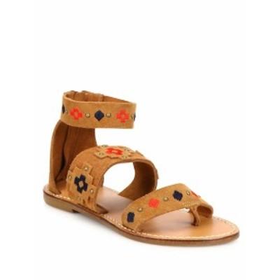 ソルドス レディース シューズ サンダル Embroidered Suede Sandals