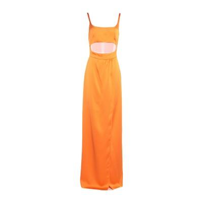 BROGNANO ロングワンピース&ドレス オレンジ 38 ポリエステル 100% ロングワンピース&ドレス