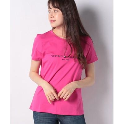 【トミーヒルフィガー】 ベーシックロゴTシャツ レディース ピンク XS TOMMY HILFIGER