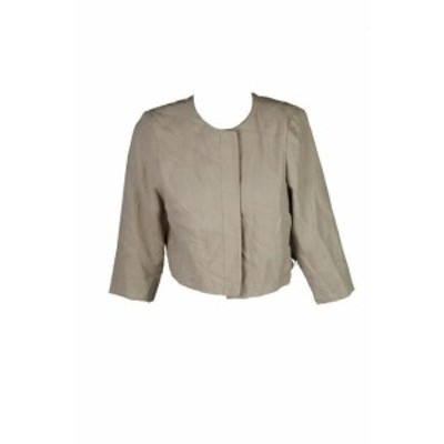 Jessica Howard ジェシカハワード ファッション 衣類 Jessica Howard Piccola Beige 3/4-Sleeve Giacca Corta 12P