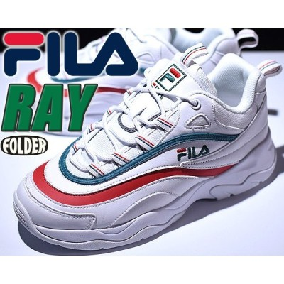 FILA RAY white/grn-redfila フィラ レイ スニーカー ダッドシューズ DAD SHOES チャンキーソール FILA DISRUPTOR 厚底 レディース メンズ FOLDER