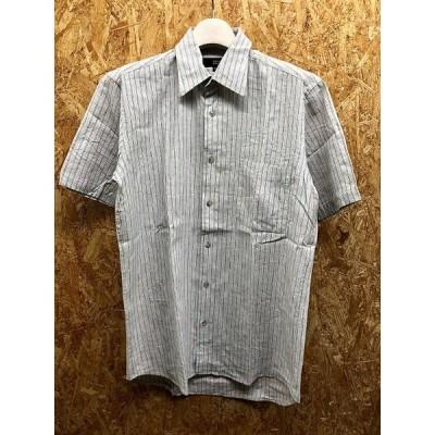 SISSY by KANSAI YAMAMOTO シシーバイカンサイヤマモト M メンズ シャツ ストライプ柄 胸ポケット 半袖 麻×綿 グレー×ブラウン×ホワイト