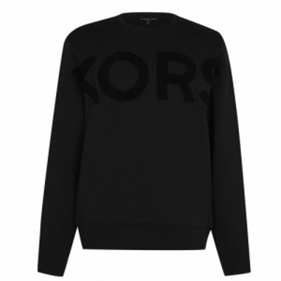 マイケル コース Michael Kors メンズ ニット・セーター トップス Large Chest Knit Jumper Black
