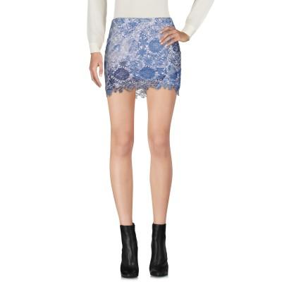 HAPPINESS ミニスカート アジュールブルー 42 ポリエステル 100% ミニスカート