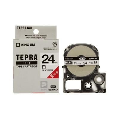 キングジム テプラ PROテープ 24mm 白/黒文字 SS24KL 1個