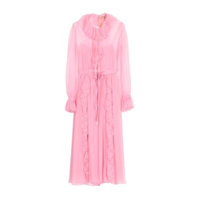 ヌメロ ヴェントゥーノ N°21 7分丈ワンピース・ドレス ピンク 40 100% シルク 7分丈ワンピース・ドレス