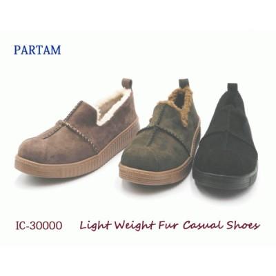 【新商品SALE】PARTAM 軽量 厚底 ボア ラウンド カジュアル シフォンクッション ふわふわ 切り返し 柔らかい 暖かい ファー IC30000