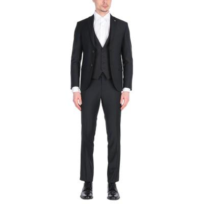 LUCIANO SOPRANI スーツ ブラック 56 ポリエステル 53% / バージンウール 43% / ポリウレタン 4% スーツ