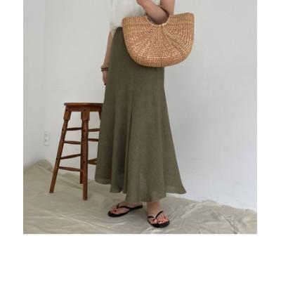 イレギュラーヘム裾フリンジスカート