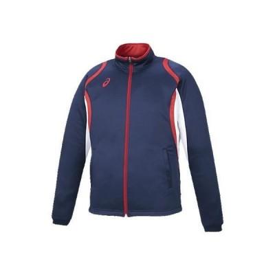 アシックス デコトレーニングジャケット 50 ネイビー(xat12d-50)