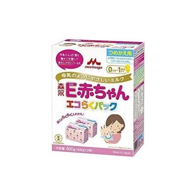 森永 エコらくパック つめかえ用 E赤ちゃん 800g (400g×2袋)6個セット