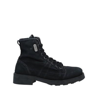 オキシス O.X.S. ショートブーツ ブラック 36 紡績繊維 ショートブーツ