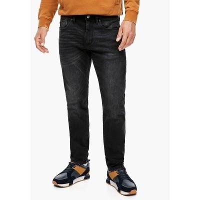 エスオリバー デニムパンツ メンズ ボトムス Slim fit jeans - black