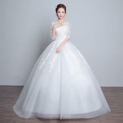 マタニティドレス 安い ウエディングドレス 結婚式 ウェディングドレス エンパイア お呼ばれ 二次会 ロングドレス ブライダル 花嫁 妊婦可白 wedding dress