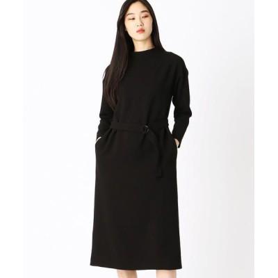 COMME CA/コムサ Iラインマキシ丈ドレス ブラック 9号