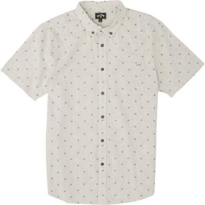 ビラボン メンズ シャツ トップス Billabong Men's All Day Jacquard Button Down Short Sleeve Top