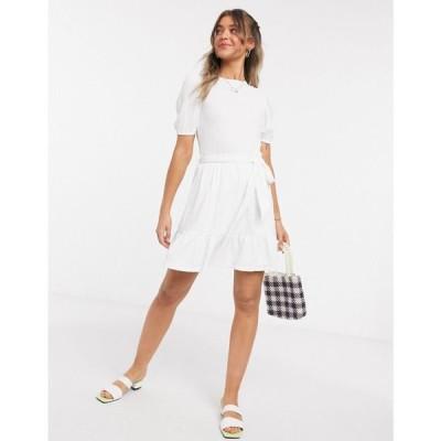 ミス セルフリッジ Miss Selfridge レディース ワンピース ワンピース・ドレス chevron print smock dress in ivory クリーム